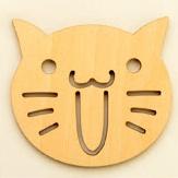 ที่รองแก้ว หน้าแมว ขนมปัง