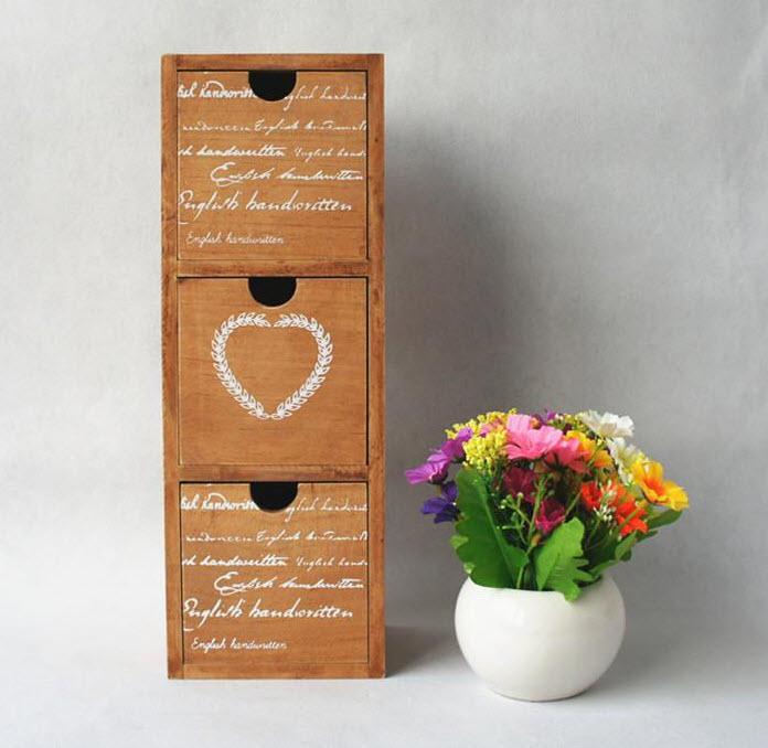 กล่องลิ้นชักไม้